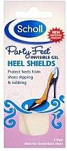 Gel-Senkfußeinlagen mit Fersenschutz für High Heels und Schuhe mit Absätzen - Scholl Party Feet Invisible Gel Shields Back of Heels — Bild N1