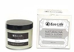 """Düfte, Parfümerie und Kosmetik Eco Life Candles - Natürliche Soja-Duftkerze im Glas """"Relax"""""""