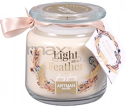 Düfte, Parfümerie und Kosmetik Duftkerze im Glas Light As Feather - Artman Light As Feather