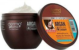 Düfte, Parfümerie und Kosmetik Thermoaktive Haarmaske mit Arganöl und Keratin - Dermo Pharma Argan Professional 4 Therapy Strengthening & Smoothing Mask