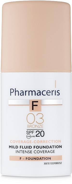 Flüssige Foundation SPF 20 - Pharmaceris F Intense Coverage Mild Fluid Foundation SPF20