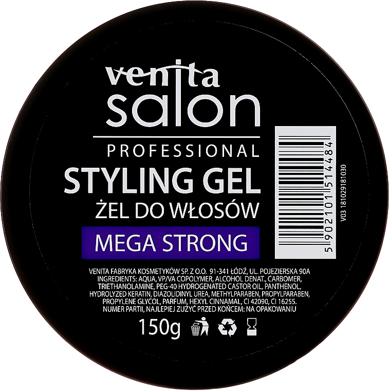 Haargel - Venita Salon Professional Styling Mega Strong