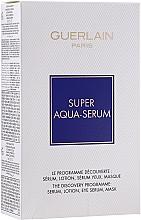 Düfte, Parfümerie und Kosmetik Gesichtspflegeset - Guerlain Super Aqua Serum Set (Gesichtsserum 50ml + Augenserum 5ml + Gesichtsmaske 1 St. + Lotion 15ml)