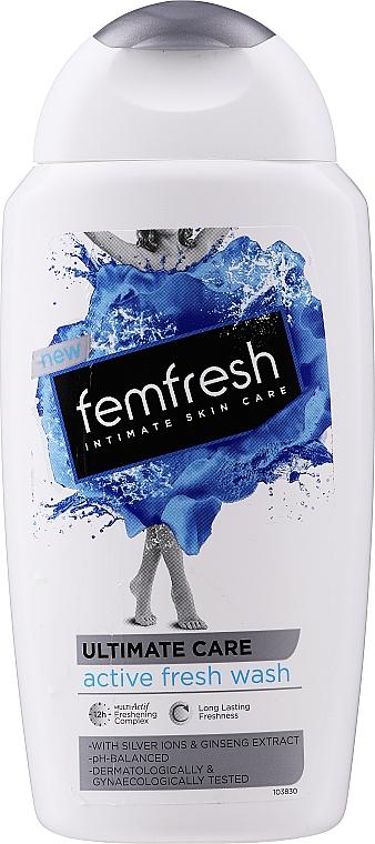 Erfrischendes Gel für die Intimhygiene mit Silberionen und Ginsengextrakt - Femfresh Intimate Hygiene Triple Action Deodorising Wash — Bild N1
