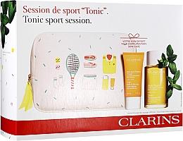 Düfte, Parfümerie und Kosmetik Körperpflegeset - Clarins Tonic Sport Session (Badeschaum 30ml + Badeöl 100ml + Kosmetiktasche)