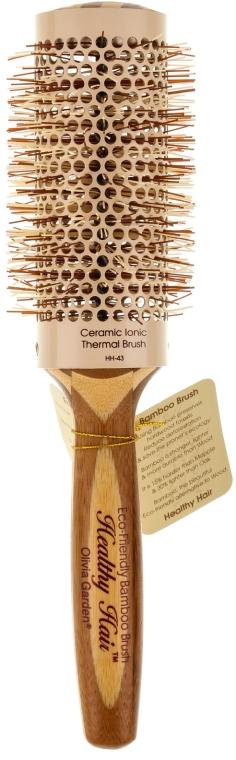 Klimafreundliche runde Bambusbürste d.43 - Olivia Garden Healthy Hair Eco-Friendly Bamboo Brush — Bild N1