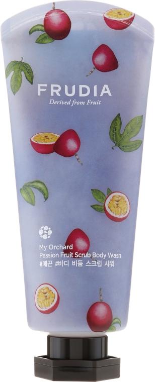 Feuchtigkeitsspendendes Körperpeeling mit Passionsfruchtextrakt - Frudia My Orchard Passion Fruit Scrub Body Wash