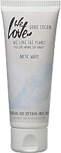 Düfte, Parfümerie und Kosmetik Pflegende und aufweichende Handcreme mit Bio Sheabutter und Aloe Vera - We Love The Planet Handcreme Arctic White