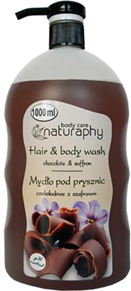 Duschgel für Haar und Körper Schokolade & Safran - Bluxcosmetics Naturaphy Hair & Body Wash