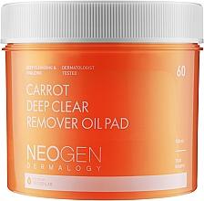 Düfte, Parfümerie und Kosmetik Tief porenreinigende feuchtigkeitsspendende und exfolierende Gesichtsreinigungspads mit Karottenöl - Neogen Dermalogy Carrot Deep Clear Remover Oil Pad
