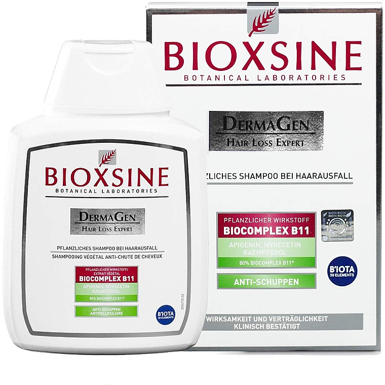 Pflanzliches Shampoo gegen Haarausfall und Schuppen - Biota Bioxsine Dermagen Anti-Hair Loss Herbal Shampoo Anti-Dandruff