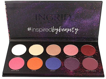Lidschattenpalette - Ingrid Cosmetics Colors Matt & Glam Palette