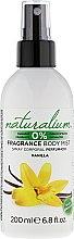 Düfte, Parfümerie und Kosmetik Parfümiertes Körperspray mit Vanilleduft - Naturalium Vainilla Body Mist