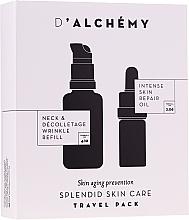 Düfte, Parfümerie und Kosmetik Gesichtspflegeset - D'Alchemy Travel Pack (Feuchtigkeitsspendendes Gesichtsöl 5ml + Fluid für Hals- und Dekolleté 20ml)
