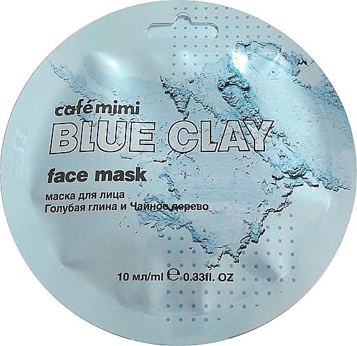 Gesichtsmaske mit blauer Tonerde und Teebaumextrakt - Cafe Mimi Blue Clay Face Mask