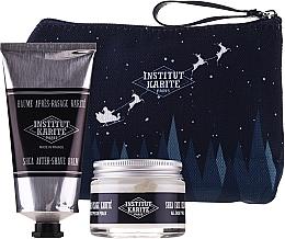 Düfte, Parfümerie und Kosmetik Gesichtspflegeset - Institut Karite Men Shea (Gesichtscreme 50ml + After Shave Balsam 75ml + Kosmetiktasche)