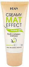 Düfte, Parfümerie und Kosmetik Make-up mit Aloe, Seidenproteinen und Vitamin E - Hean Creamy Mat Effect