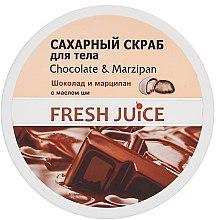 Düfte, Parfümerie und Kosmetik Körperpeeling mit Kristallzucker - Fresh Juice Chocolate and Marzipan