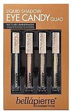 Düfte, Parfümerie und Kosmetik Augen Make-up Set (Flüssiger Lidschatten 4x3,3ml) - Bellapierre Liquid Shadow Eye Candy Quad