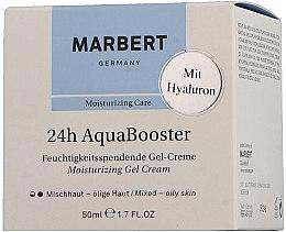 Düfte, Parfümerie und Kosmetik Feuchtigkeitsspendende Gesichtsgel-Creme mit Hyaluron - Marbert 24h Aquabooster Moisturizing Gel Cream Combination Skin-Oily Skin