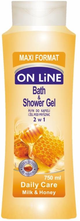 Duschgel Milch & Honig - On Line Daily Care Bath & Shower Gel — Bild N1