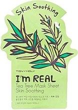 Düfte, Parfümerie und Kosmetik Reichhaltige Tuchmaske mit Teebaum für stumpfe und müde Haut - Tony Moly I'm Real Tea Tree Mask Sheet