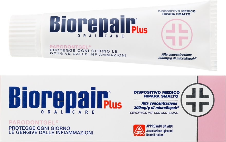 Zahnpasta für Zahnschmelz- und Dentinschäden mit natürlichen Extrakten - Biorepair Plus Professional Care Parodontogel — Bild N1