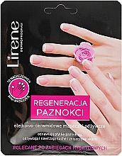 Düfte, Parfümerie und Kosmetik Regenerierende Pflegemaske für Hände und Nägel mit Ceramide - Lirene Dermo Program