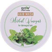 Düfte, Parfümerie und Kosmetik Haarmaske mit Kräuteressig für strapaziertes Haar - Eco U Hair Mask Herbal Vinegar For Damaged Hair