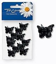 Düfte, Parfümerie und Kosmetik Haarspangen 25365 Schwarze Schmetterlinge 12 St. - Top Choice