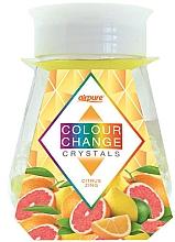 Düfte, Parfümerie und Kosmetik Raumduft-Gel mit farbwechselnden Kristallen und Zitrusduft - Airpure Colour Change Crystals Citrus Zing