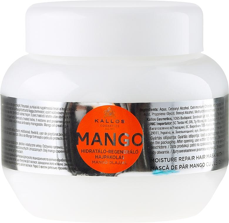 Feuchtigkeitsspendende und regenerierende Haarmaske mit Mango - Kallos Cosmetics Mango