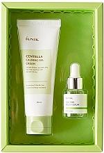 Düfte, Parfümerie und Kosmetik Gesichtspflegeset - iUNIK Centella Edition Skincare Set (Cremegel mit Centela 60ml + Serum mit Teebaum 15ml)