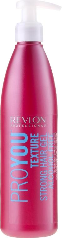 Alkoholfreies Haargel Starker Halt - Revlon Professional Pro You Texture Strong Hair Gel Alcohol Free — Bild N1