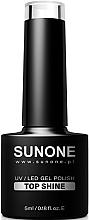 Düfte, Parfümerie und Kosmetik Gel Nagelüberlack - Sunone UV/LED Gel Polish Top Shine