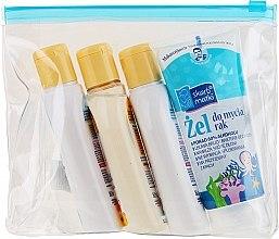 Düfte, Parfümerie und Kosmetik Körperpflegeset für Babys - Skarb Matki (Handgel 80ml+Körperöl 80ml+Shampoo 80ml+Seife 80ml)