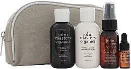 Düfte, Parfümerie und Kosmetik Set - John Masters Organics Essential Travel Kit For Dry Hair (sh/60ml + cond/60ml + volumizer/30ml + oil/3ml + bag)