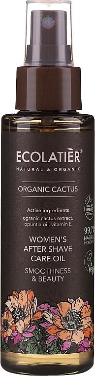 After Shave Pflegeöl für Frauen gegen Irritationen und Rötungen - Ecolatier Organic Cactus Women`s After Shave Care Oil