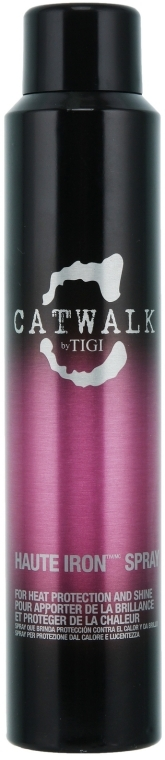 Haarspray für Thermoschutz und Glanz mit Litschi, Reiskleieöl und Japanischem Geißblatt - Tigi Catwalk Haute Iron Spray