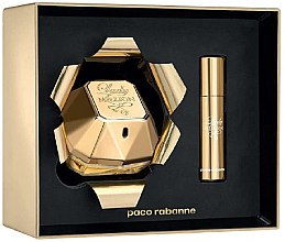 Düfte, Parfümerie und Kosmetik Paco Rabanne Lady Million - Duftset (Eau de Parfum 80ml + Mini 10ml)