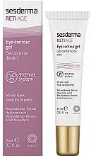 Düfte, Parfümerie und Kosmetik Augenkonturgel für alle Hauttypen mit Retinaldehyd, Retinol und Hyaluronsäure - SesDerma Laboratories Reti Age Facial Eye Contour Gel 3-Retinol System