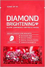 Düfte, Parfümerie und Kosmetik Aufhellende und beruhigende Tuchmaske mit Perlenextrakt und Diamantpulver - Some By Mi Diamond Brightening Calming Glow Luminous Ampoule Mask