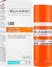 Düfte, Parfümerie und Kosmetik Sonnenschutzgel-Creme gegen Pigmentflecken für gemischte und fettige Gesichtshaut SPF 50 - Bella Aurora Sunscreen Gel Oily Skin SPF 50