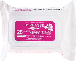 Düfte, Parfümerie und Kosmetik Make-up-Entfernungstücher 25 St. - Byphasse Make-up Remover Micellar Solution Sensitive Skin Wipes