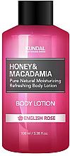 Düfte, Parfümerie und Kosmetik Erfrischende und feuchtigkeitsspendende Körperlotion mit englischer Rose - Kundal Honey & Macadamia Body Lotion English Rose
