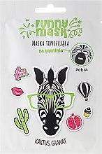 """Düfte, Parfümerie und Kosmetik Belebende Tuchmaske mit Kaktus- und Granatapfelextrakt """"Zebra"""" - Marion Funny Mask"""