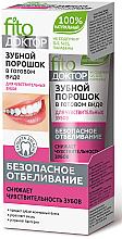Düfte, Parfümerie und Kosmetik Aufhellendes Zahnpulver für empfindliche Zähne - Fito Kosmetik