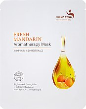 Düfte, Parfümerie und Kosmetik Aufhellende und straffende Tuchmaske für das Gesicht mit frischer Mandarine und Kaktusfrucht - Aroma Yong Aromatherapy Mask Fresh Mandarin