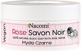 Düfte, Parfümerie und Kosmetik Natürliche schwarze Seife mit Rosenwasser für Gesicht und Körper - Nacomi Savon Noir Natural Black Soap with Rose Water