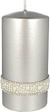 Düfte, Parfümerie und Kosmetik Dekorative Kerze Crystal Opal 7x14 cm - Artman Crystal Opal Pearl